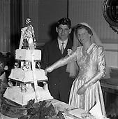 1957 - Wedding of Lee - Hill at Finglas Parish Church (Saint Canice's, Church of Ireland)
