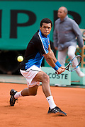 Paris, France. May 26th 2009. .Roland Garros - Tennis French Open. 1st Round..French player Jo-Wilfried Tsonga against Julien Benneteau