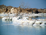 salt formation at the Dead Sea, Israel