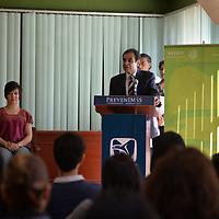 Toluca, México.- (Mayo 29, 2018).- Enrique Gómez Bravo Topete, delegado de la zona poniente del Estado de México del IMSS inauguró la feria de salud PrevenIMSS a jóvenes universitarios en la Facultad de Humanidades de la UAEMex. Agencia MVT / Crisanta Espinosa.