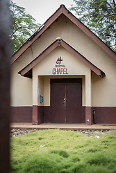 2 November 2019, Ganta, Liberia: Chapel at Ganta Hospital. Located in Nimba county, the Ganta United Methodist Hospital serves tens of thousands of patients each year. It is a founding member of the Christian Health Association of Liberia.