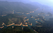 HANGZHOU, March 15, 2016 (Xinhua) -- <br /> <br /> an aerial view of the Qiandao Lake, or Thousand-Island Lake, in Chun'an County of Hangzhou, east China's Zhejiang Province. With 1,078 islands scattered across the lake, Qiandao Lake is a famous spot for sightseeing in China.<br /> ©Exclusivepix Media
