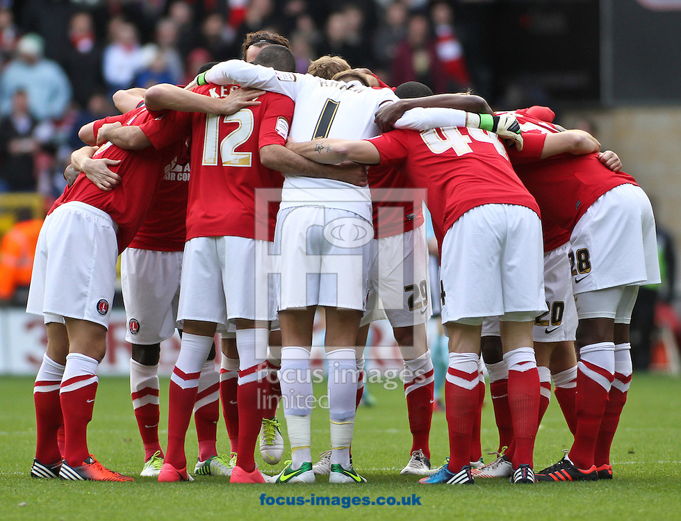 Picture by David Horn/Focus Images Ltd +44 7545 970036.03/11/2012.Charlton Athletic and players before the npower Championship match at The Valley, London.