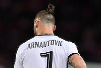 FUSSBALL EURO 2016 GRUPPE F IN PARIS Portugal - Oesterreich      18.06.2016 Marko Arnautovic (Oesterreich) mit modischer Zopffrisur