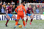 Shrewsbury Town forward Stefan Payne (45) attacking  during the EFL Sky Bet League 1 match between Scunthorpe United and Shrewsbury Town at Glanford Park, Scunthorpe, England on 17 March 2018. Picture by Mick Atkins.