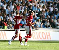 Photo: Mark Stephenson.<br /> Coventry City v Bristol City. Coca Cola Championship. 15/09/2007.Bristol's Bradley Orr (F) celebrates his goal and Bristol's 2ed