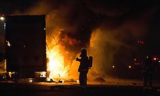 Wellington-Truck engulfed in flames, SH1 Paramata
