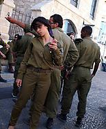 An Israeli Army soldier inside the Jaffa Gate, Old City Jerusalem, Israel, 2013.