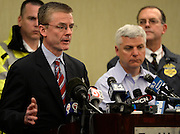 FBI Special Agent in Charge Richard DesLauriers addresses members of the media at a press conference in Boston on April 15, 2013. Three people were killed by two explosions on Boylston Street near the finish line of the Boston Marathon, in which 27,000 people competed.