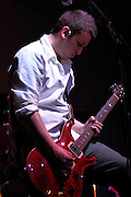 Dan Kundrat, lead guitar for Beyond Words, playing at The Hub in New Lenox, IL.