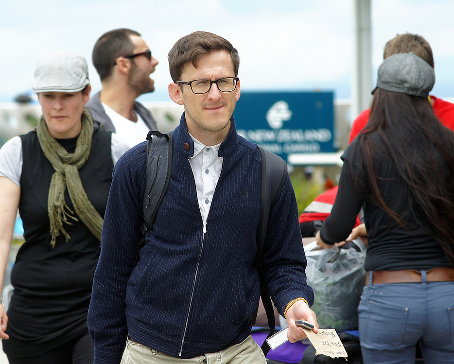 Adam Brown, filming in the Hobbit movies arrives at the airport in Nelson, New Zealand, Wednesday, December 07, 2011. Credit:SNPA / Ross Wearing