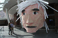 Andy Warhol Piñata by Jennifer Rubell at Brooklyn Museum. Photo © Adam Husted