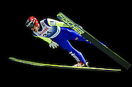 Jan Matura of Czech Republic competes during FIS World Cup Ski Jumping competition in Wisla, Poland on January 16, 2014.<br /> <br /> Poland, Wisla, January 16, 2014.<br /> <br /> Picture also available in RAW (NEF) or TIFF format on special request.<br /> <br /> For editorial use only. Any commercial or promotional use requires permission.<br /> <br /> Mandatory credit:<br /> Photo by © Adam Nurkiewicz / Mediasport