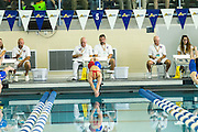 Katherine Douglass on her way to winning the 50 Yard Freestyle event in the 2016 NYSPHSAA Swimming and Diving Championships held at Ithaca College on Saturday.
