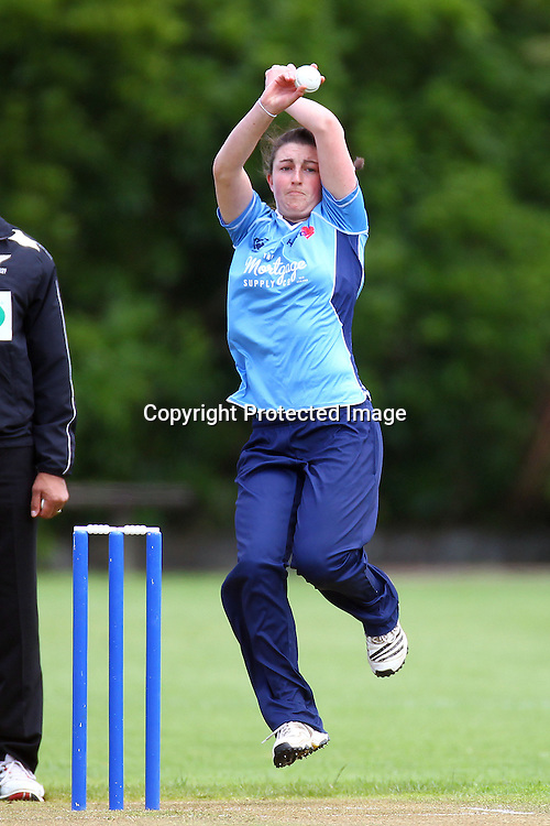 Auckland's Arlene Kelly, Womens domestic Twenty20 cricket, Auckland Hearts v Northern Spirit, Melville Park, Auckland. 7 December 2012. Photo: William Booth/photosport.co.nz