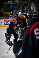 KELOWNA, CANADA - SEPTEMBER 28: Tomas Soustal #15 of Kelowna Rockets celebrates a goal against the Prince George Cougars on September 28, 2016 at Prospera Place in Kelowna, British Columbia, Canada.  (Photo by Marissa Baecker/Shoot the Breeze)  *** Local Caption *** Tomas Soustal;