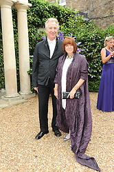 ALAN RICKMAN and RIMA HORTON at the Raisa Gorbachev Foundation Party held at Stud House, Hampton Court Palace on 5th June 2010.  The night is in aid of the Raisa Gorbachev Foundation, an international fund fighting child cancer.
