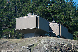 Modular Home Made from Airplane Engine Crates, Stuart Island, Washington, US