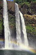 Wailua Falls with rainbow, Kauai, Hawaii<br />