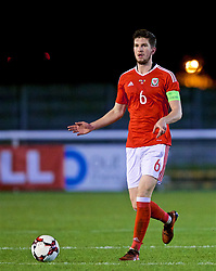 BANGOR, WALES - Tuesday, November 14, 2017: Wales' captain Chris Mepham during the UEFA Under-21 European Championship Qualifying Group 8 match between Wales and Romania at the Nantporth Stadium. (Pic by Paul Greenwood/Propaganda)