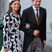 BEL/Brussel/20101120 - Huwelijk prinses Annemarie de Bourbon de Parme-Gualtherie van Weezel en bruidegom Carlos de Borbon de Parme, prins Floris en prinses Aimee Sohngen