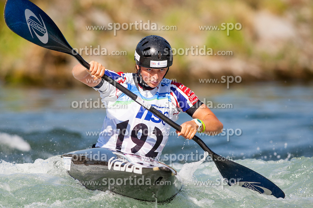 Mallory Franklin of Great Britan during Kayak(K1) Women semi-final race at ICF Canoe Slalom World Cup Sloka 2013, on August 18, 2013, in Tacen, Ljubljana, Slovenia. (Photo by Urban Urbanc / Sportida.com)