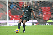 Vincent Kompany during the Premier League match between Stoke City and Manchester City at the Bet365 Stadium, Stoke-on-Trent, England on 12 March 2018. Picture by Graham Holt.