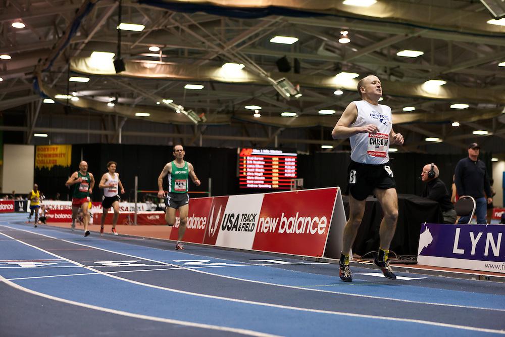 New Balance Indoor Grand Prix track meet: Men's Masters Mile, Chisolm