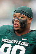 EAST LANSING, MI - NOVEMBER 19: Jerel Worthy #99 of the Michigan State Spartans looks on during the game against the Indiana Hoosiers at Spartan Stadium on November 19, 2011 in East Lansing, Michigan. Michigan State won 55-3. (Photo by Joe Robbins) *** Local Caption *** Jerel Worthy