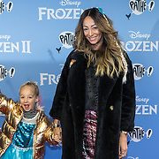 NLD/Amsterdam/20191116 - Filmpremiere Frozen II, Maria Tailor en dochter Amelle Sophie