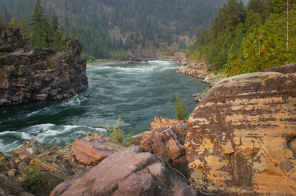 Kootenai Falls Montana, a series of cascades on the Kootenai River