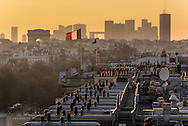 France. Paris. elevated view. paris view from the hotel intercontinental