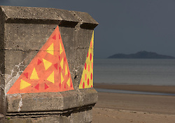 Across Portobello, Edinburgh, artists revealed their work to the public for the start of this weekend's Art Walk Porty. A mixture of open studios, pop-up exhibition spaces, artists market and site-specitic art all over the Edinburgh suburb this weekend. The event runs from Fri-Sun Sept 2nd-4th. 2016. Pictured: &quot;Twelve Bakers&quot; at the foot of Kings Road by Kate Tweddle and Elaine Maher.<br /> <br /> &copy; Jon Davey/ EEm