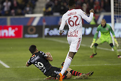 March 13, 2018 - Harrison, New Jersey, United States - Michael Murillo (62) of Red Bulls & Hiram Munoz (30) of Club Tijuana collide during Scotiabank Concacaf Champions League quarterfinal second leg game at Red Bull Arena Red Bulls won 3 - 1  (Credit Image: © Lev Radin/Pacific Press via ZUMA Wire)