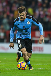November 10, 2017 - Warsaw, Poland - Nahitan Nandez (URU) in action during the international friendly match between Poland and Uruguay at National Stadium on November 10, 2017 in Warsaw, Poland. (Credit Image: © Foto Olimpik/NurPhoto via ZUMA Press)
