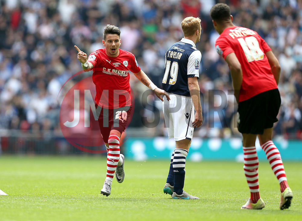 Adam Hammill of Barnsley celebrates scoring a goal - Mandatory by-line: Robbie Stephenson/JMP - 29/05/2016 - FOOTBALL - Wembley Stadium - London, England - Barnsley v Millwall - Sky Bet League One Play-off Final