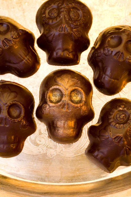 """Alma Chocolates, a botique chocolate shop in Portland, Oregon, creates """"Day of the Dead"""" sweets among other beautiful confections."""
