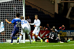 James Wilson of England U21 has a shot saved by Zack Steffen of USA U23  - Mandatory byline: Matt McNulty/JMP - 07966386802 - 03/09/2015 - FOOTBALL - Deepdale Stadium -Preston,England - England U21 v USA U23 - U21 International