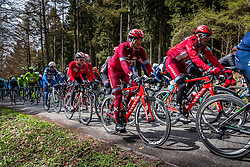 Rider of Team Katusha at C&ocirc;te de Wanne in the peloton with 95 km to go, the 102th edition of Li&egrave;ge-Bastogne-Li&egrave;ge race running 253 km from Li&egrave;ge to Li&egrave;ge, Belgium, 24 April 2016.<br /> Photo by Pim Nijland / PelotonPhotos.com<br /> <br /> All photos usage must carry mandatory copyright credit (&copy; Peloton Photos | Pim Nijland)