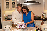 Leanna and Richard host a party at our home on Temple Avenue to celebrate the 30th wedding anniversary.