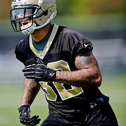 Jul 26, 2013; Metairie, LA, USA; New Orleans Saints rookie safety Kenny Vaccaro (32) during the first day of training camp at the team facility. Mandatory Credit: Derick E. Hingle-USA TODAY Sports