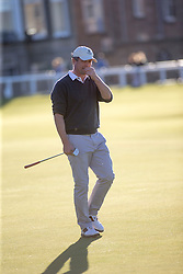 Hugh Grant. Alfred Dunhill Links Championship this afternoon at St Andrews.