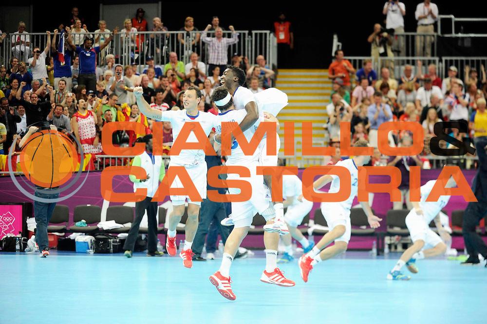 DESCRIZIONE : Handball Jeux Olympiques Londres Quart de Finale<br /> GIOCATORE : Abalo Karabatic FRA<br /> SQUADRA : France Homme<br /> EVENTO : FRANCE Handball Jeux Olympiques<br /> GARA : France Espagne<br /> DATA : 08 08 2012<br /> CATEGORIA : handball Jeux Olympiques<br /> SPORT : HANDBALL<br /> AUTORE : JF Molliere <br /> Galleria : France JEUX OLYMPIQUES 2012 Action<br /> Fotonotizia : France Handball Homme Jeux Olympiques Londres Quart de Finale Basketball Arena<br /> Predefinita :