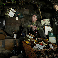Derek Brown, Brands Heritage Manager in the cellar of Glenturret Distillery in Crieff where they will be holding a whisky sale.<br /><br />Picture by Graeme Hart.<br />Copyright Perthshire Picture Agency<br />Tel: 01738 623350  Mobile: 07990 594431