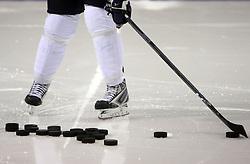 Ice hockey pucks,  on May 01, 2008, Halifax, Canada.  (Photo by Vid Ponikvar / Sportal Images)