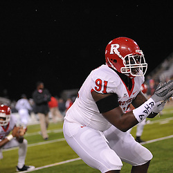 Oct 23, 2009; West Point, N.Y., USA; Rutgers defensive tackle Justin Francis (91) warms up for Rutgers' 27 - 10 victory over Army at Michie Stadium.
