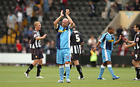 Photo: Leigh Quinnell.<br /> Notts County v Wycombe Wanderers. Coca Cola League 2. 12/08/2006. Wycombe captain Tommy Mooney thanks the traveling fans.