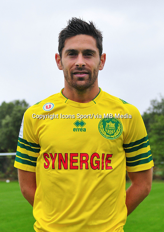 Olivier VEIGNEAU - 17.09.2013 - Photo Officielle - Nantes -Ligue 1<br /> Photo : Philippe Le Brech / Icon Sport