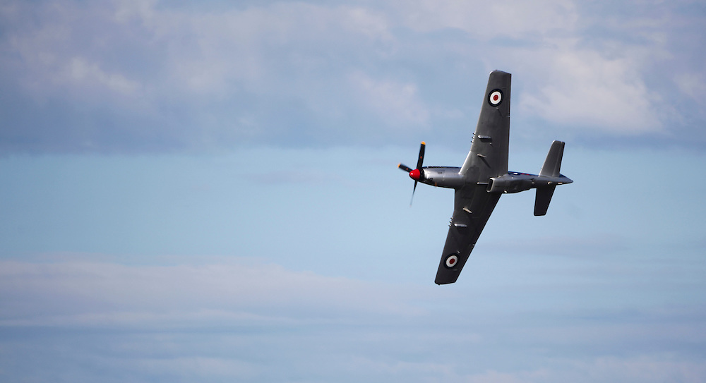 A P51 Mustang in the 75th Anniversary Airshow at Ohakea Airforce base, New Zealand, Saturday, 31 March, 2012. Credit:SNPA / John Cowpland