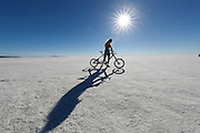 July 15, 2017 PROJECT SPEED; Denise Mueller will attempt to break the men's record of 167mph and set a first women's record for the land speed record on a bicycle at the Bonneville Speedway on the Bonneville Salt Flats in Wendover, Utah. Jeff Swinger/Swingman Photo